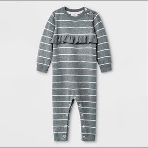 NWT Cat & Jack Baby Ruffle Sweater Romper 18 Month
